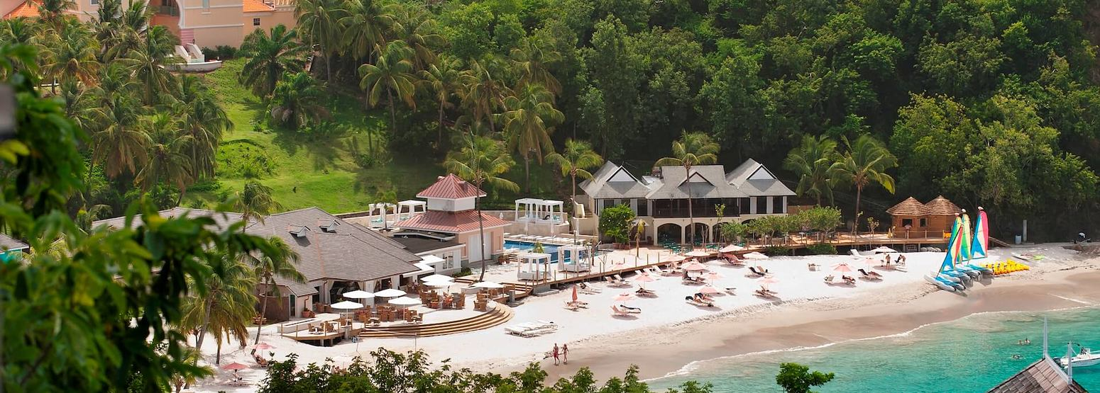 aerial view of the body holiday resort st lucia