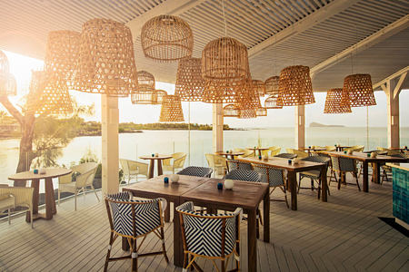 bodrum blue restaurant at lux grand gaube resort mauritius