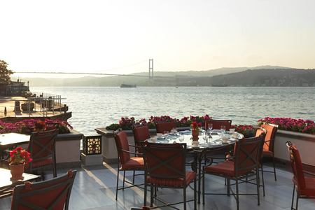 dining at four seasons bosphorus hotel turkey
