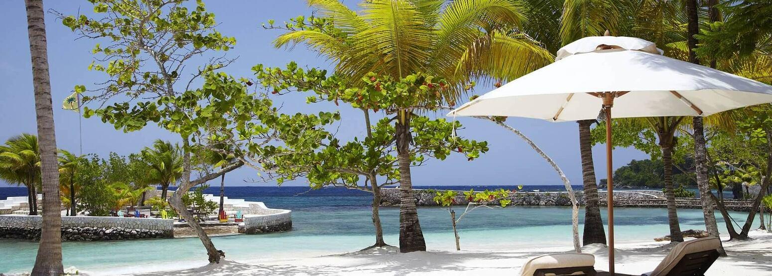 beach at goldeneye hotel jamaica caribbean