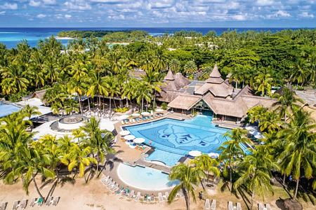 aerial view of shandrani resort mauritius