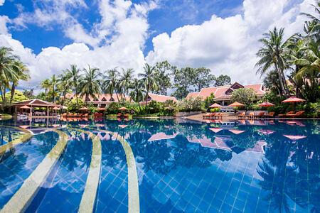 swimming pool at santiburi beach resort and spa