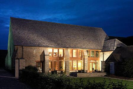 Barn Exterior at calcot manor england uk