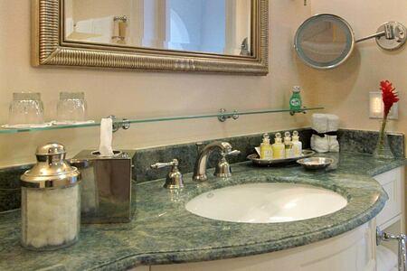 bathroom at fairmont royal pavilion hotel barbados