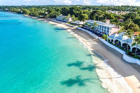 aerial beach view at fairmont royal pavilion hotel barbados