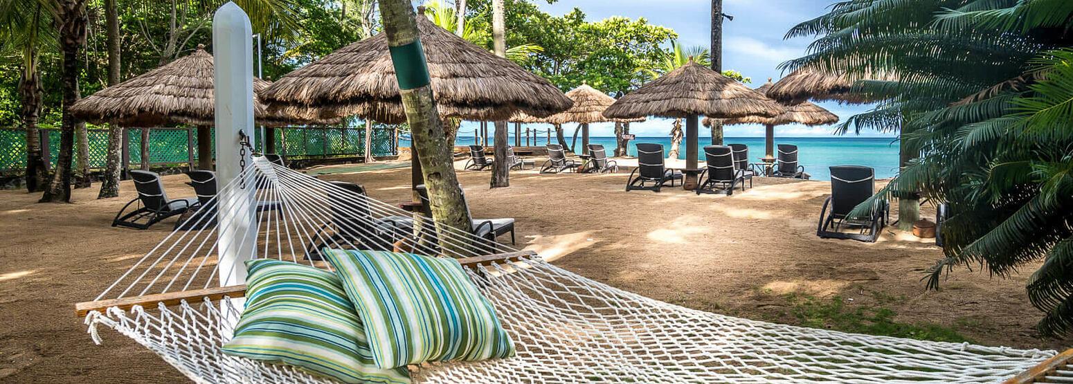 Beach-hammock-at-east-winds-st-lucia