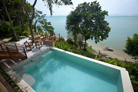 Beach front pool villa at kamalaya resort koh samui thailand