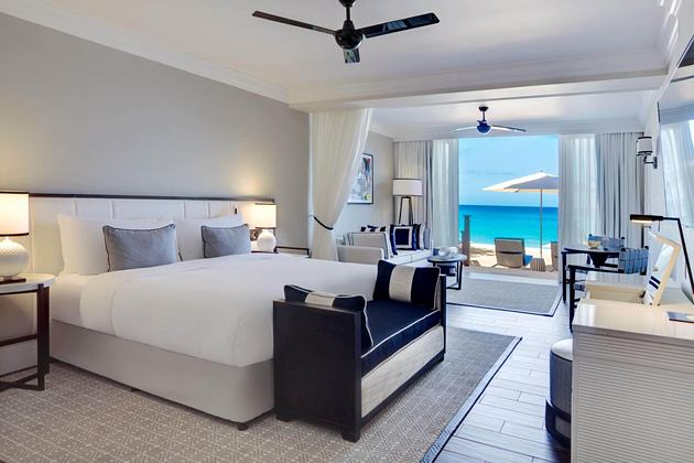 beachfront junior suite at fairmont royal pavilion hotel barbados