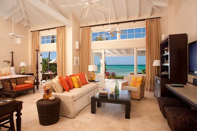 Beachside Suite at jumby bay resort antigua