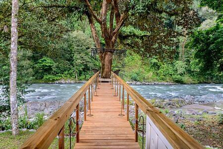 Bridge dining Pacuare Lodge Costa Rica