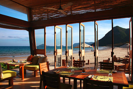 by the beach at six senses con dao hotel vietnam