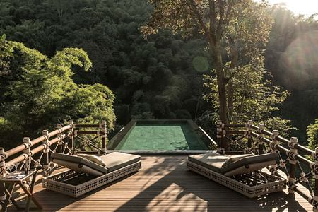 pool at four seasons tented camp resort chiang rai