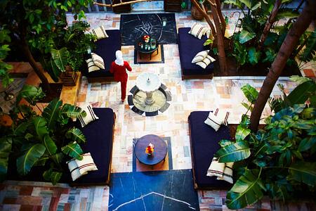 COURTYARD at riad el fenn hotel morocco