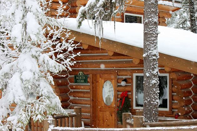 Cabin Exterior at triple creek ranch usa