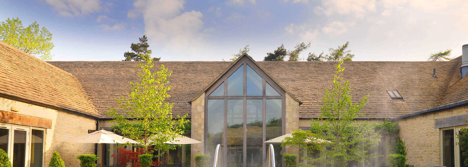 Calcot Spa exterior - daytime shot at calcot manor england uk