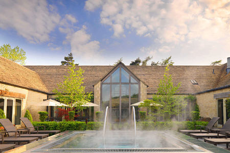 Calcot Spa exterior - daytime shot at calcot manor england uk