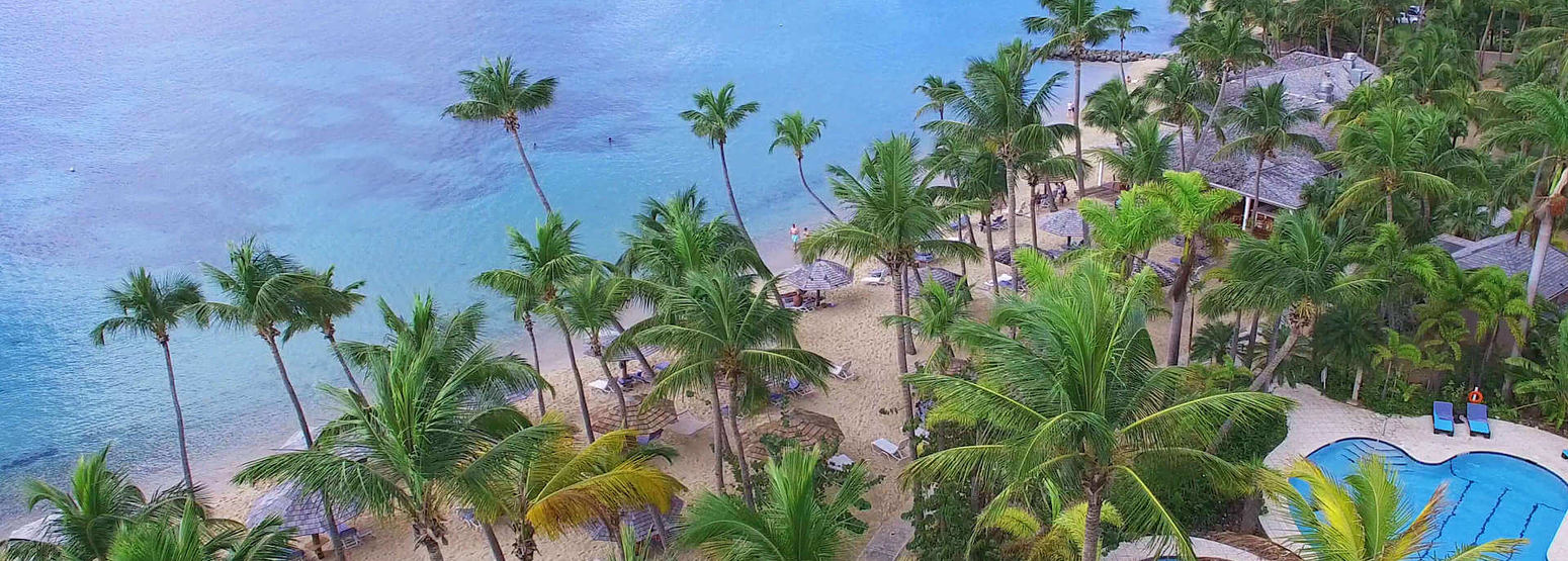 beach at curtain bluff resort caribbean