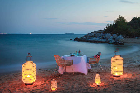 Candle Light Dinner at Six Senses Kaplankaya resort turkey