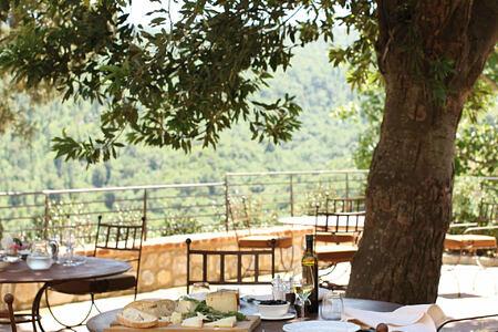 terrace at Castiglion del Bosco