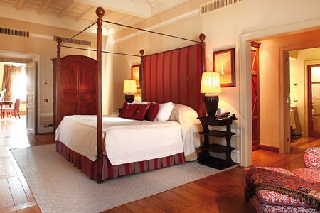bedroom at Castiglion del Bosco
