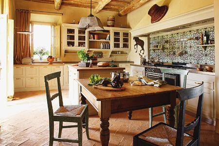 kitchen at Castiglion del Bosco