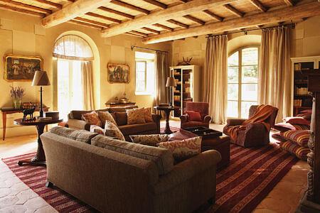 living room at Castiglion del Bosco