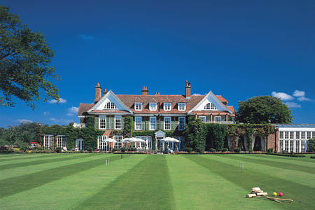 exterior at chewton glen hotel england uk
