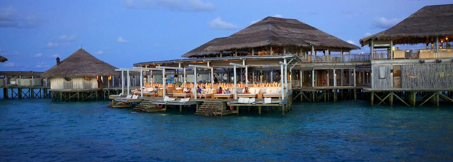 exterior of six senses laamu hotel maldives