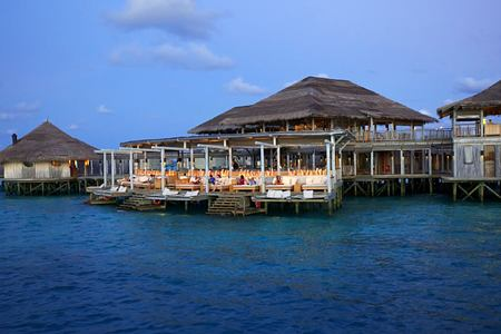 exterior of six senses laamu hotel maldives
