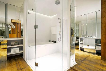 Champaka Suite Bathroom at chiva som resort thailand