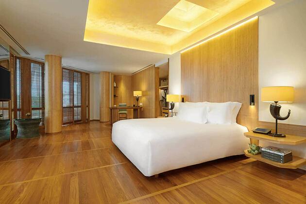 bedroom at chiva som resort thailand
