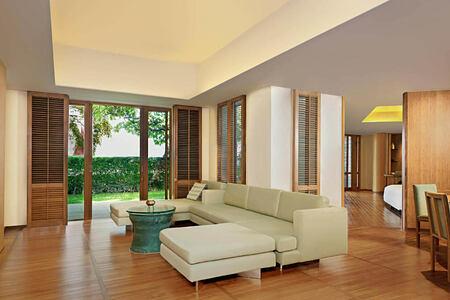 Leelawadee Suite Living Room at chiva som resort thailand