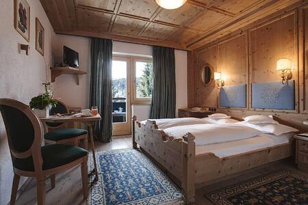 standard room at ciasa salares hotel italy