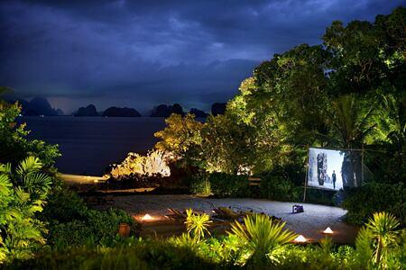 cinema paradiso by the beach at six senses yao noi resort phuket thailand