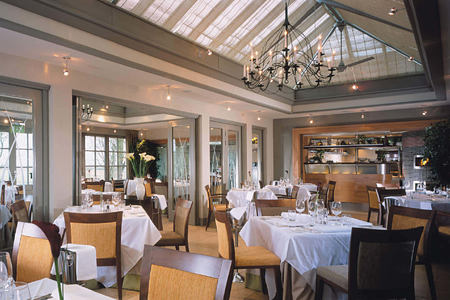Conservatory Restaurant at calcot manor england uk