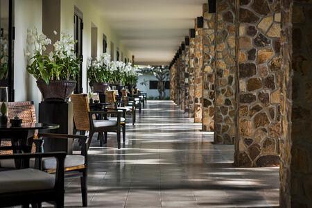 Corridors at amansara hotel cambodia