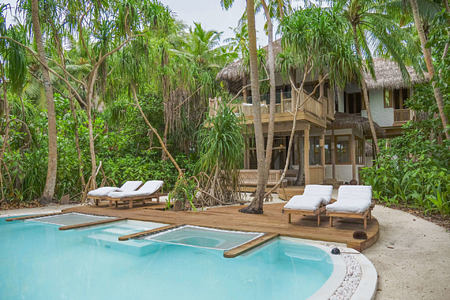 Crusoe Villa Suite 2 Bedroom with Pool at Soneva Fushi Beach Resort Maldives