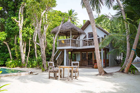 Crusoe Villa with Pool Exterior at Soneva Fushi Beach Resort Maldives