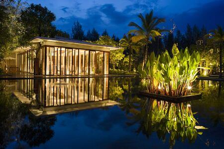 restaurant at The Sarojin Resort, Thailand