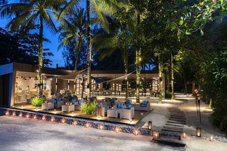 beach bar at The Sarojin Resort, Thailand
