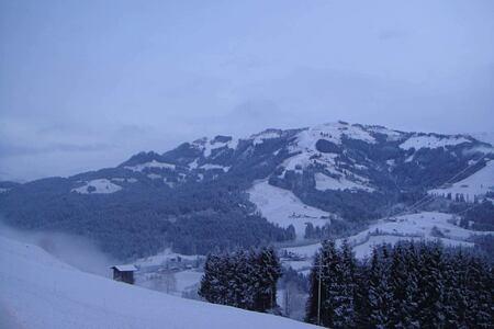 snow mountain at hotel rosengarten austria