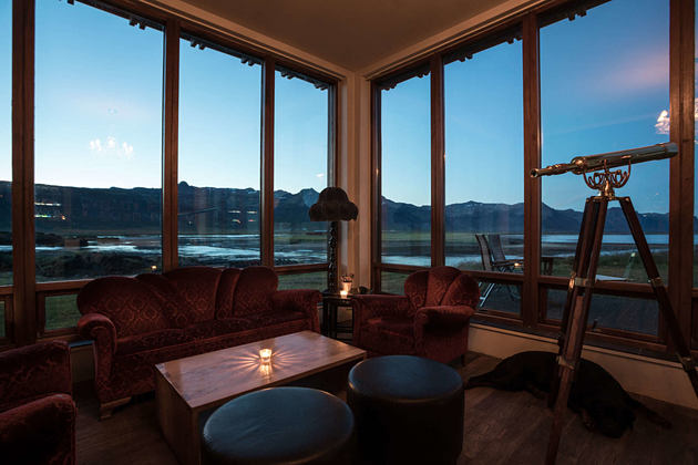living space with view at Hotel Budir