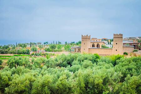 exterior of la kasbah beldi morocco