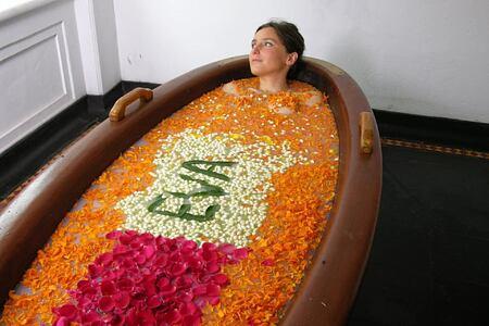 spa bath at Kalari Kovilakom