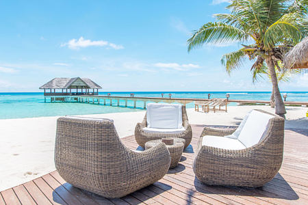 beach chairs at palm beach resort and spa maldives