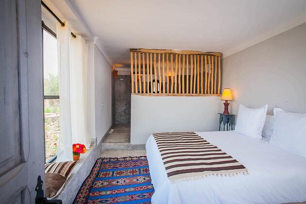 bedroom at la kasbah beldi morocco