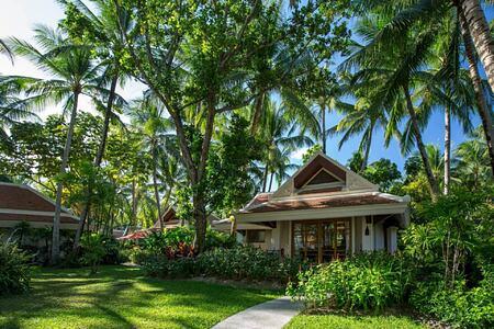 Deluxe Garden Villa exterior at santiburi beach resort and spa