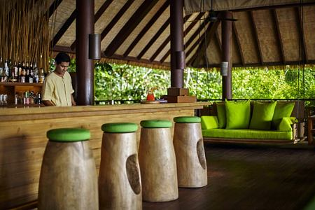 drinks on the hill at six senses samui hotel thailand
