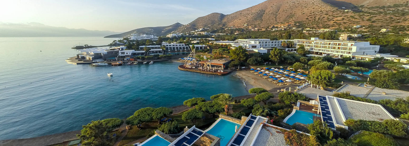 aerial view of elounda bay palace hotel greece
