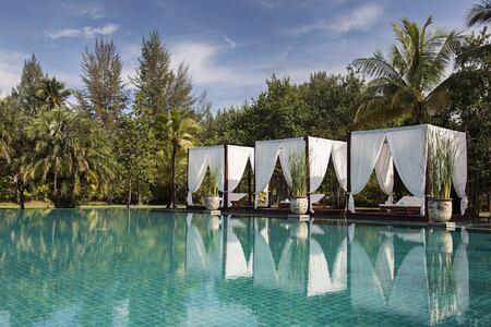 swimming pool at The Sarojin Resort, Thailand